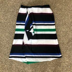 Lane Bryant Striped Midi Length Skirt